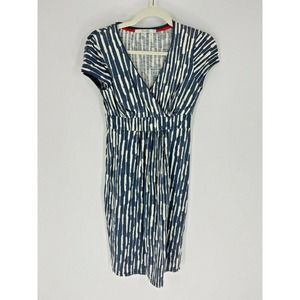 Boden Abstract Print Jersey Day Faux Wrap Dress